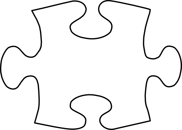 Jigsaw White Puzzle Piece Large Clip Art At Clker Com   Vector Clip