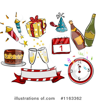 Royalty Free Rf New Year Clipart Illustration 1163362 By Bnp Design