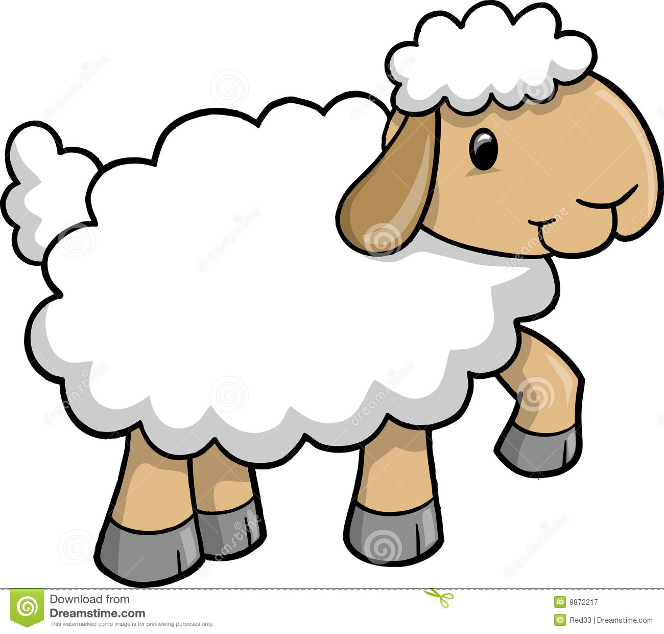 Royalty Free Stock Photography  Cute Sheep Vector