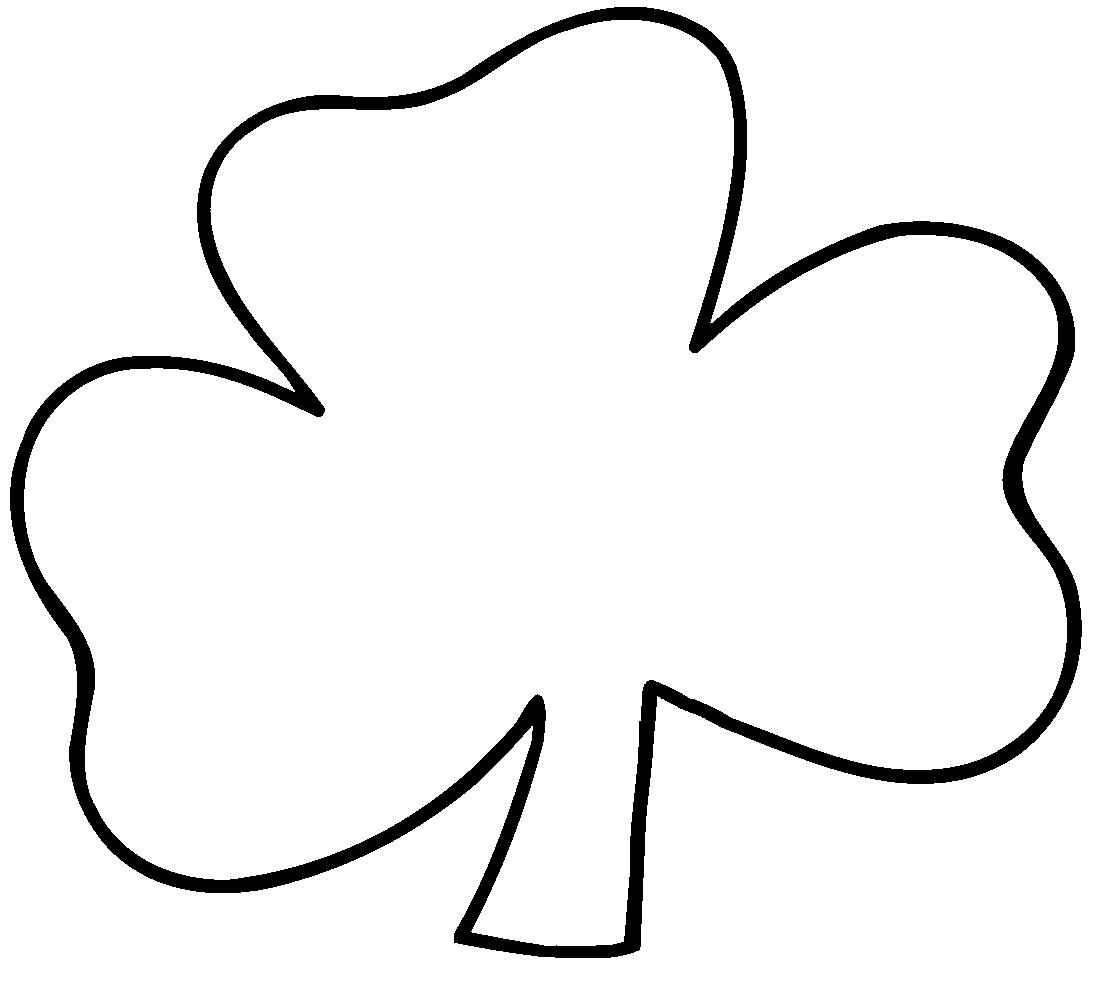 White Shamrock shamrock black and white clipart - clipart kid