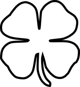 Shamrock Black And White Clipart - Clipart Kid