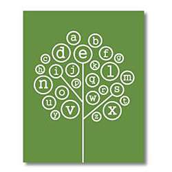 Trendography Prints Alphabet Tree Graphic Art Print Overstock