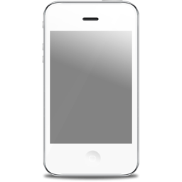 White Iphone Icon Png Clipart Image   Iconbug Com