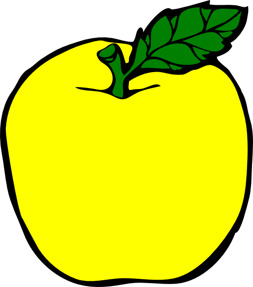 Yellow Apple Clip Art At Clker Com   Vector Clip Art Online Royalty