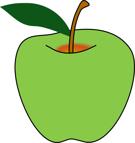 Yellow Apple Clipart - Clipart Kid