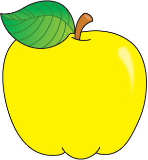 Yellow Apple Clipart   Clipart Panda   Free Clipart Images