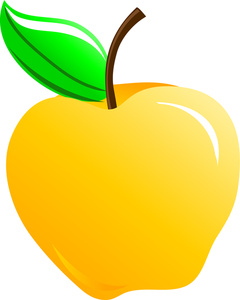 Yellow Apple Clipart Image   Sweet Yellow Apple