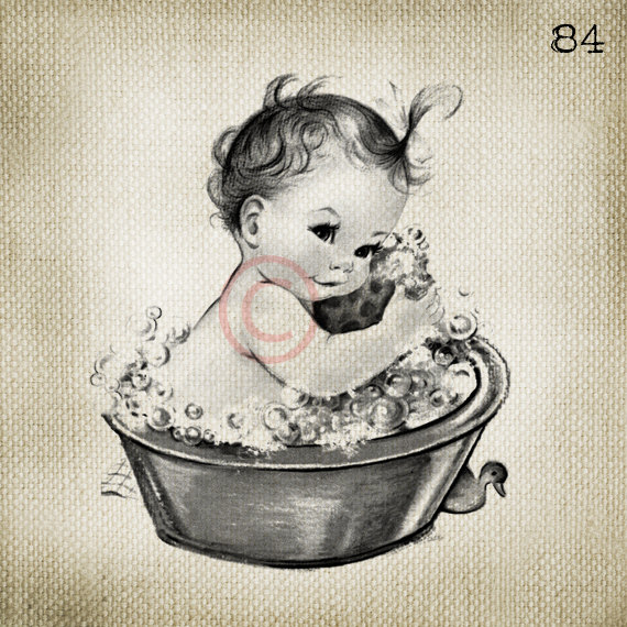 Vintage Baby Girl Clipart - Clipart Suggest