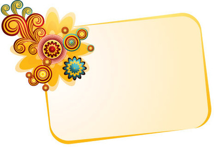 Banner With Flower Clip Arts Clip Art   Clipartlogo Com