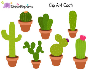 Cacti Clip Art   Digital Clip Art   Instant Download   Commercial Use