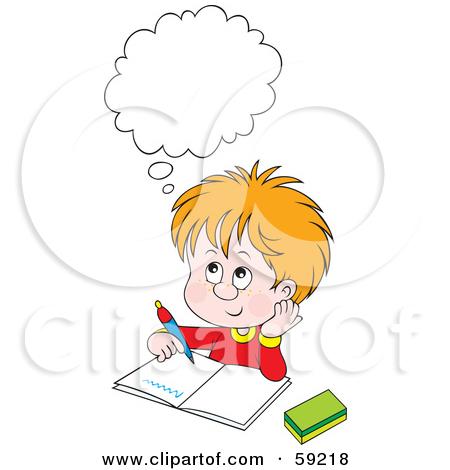 Doing homework cartoon