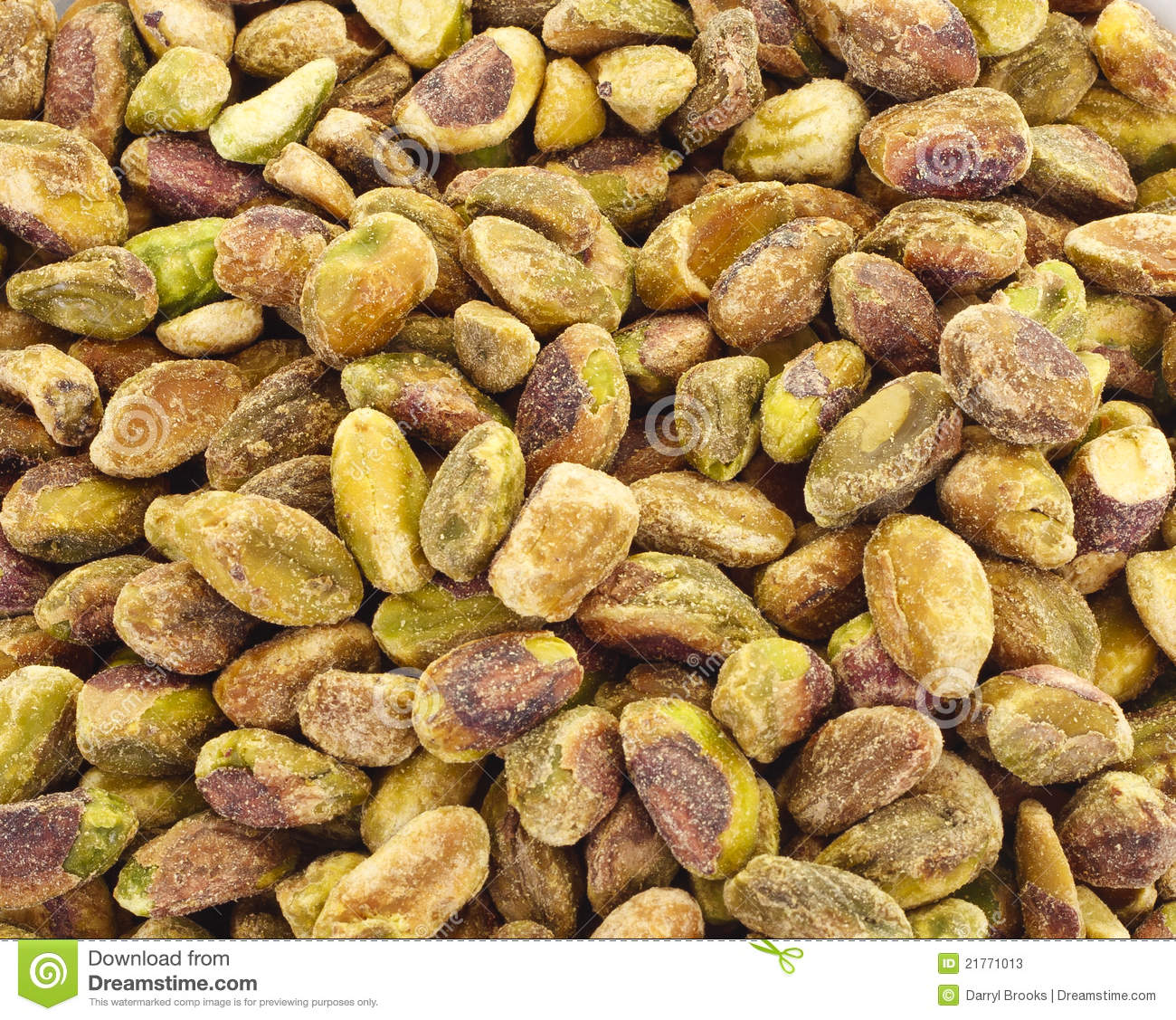 Closeup Of Fresh Salted Pistachio Nuts