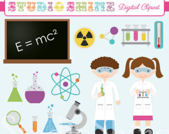 Digital Clipart   Science Lab   Cut E Science Kids Clip Art For