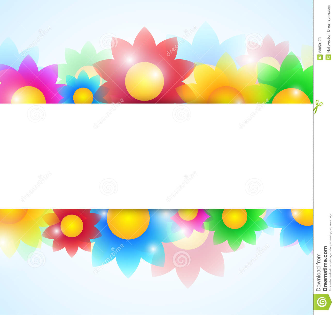 Flower Banner Clipart Flower Banner