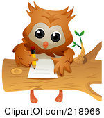 Doing Homework Owl Clipart - Clipart Kid