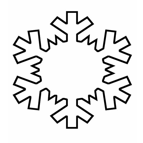 Snowflake Outline Clipart - Clipart Kid