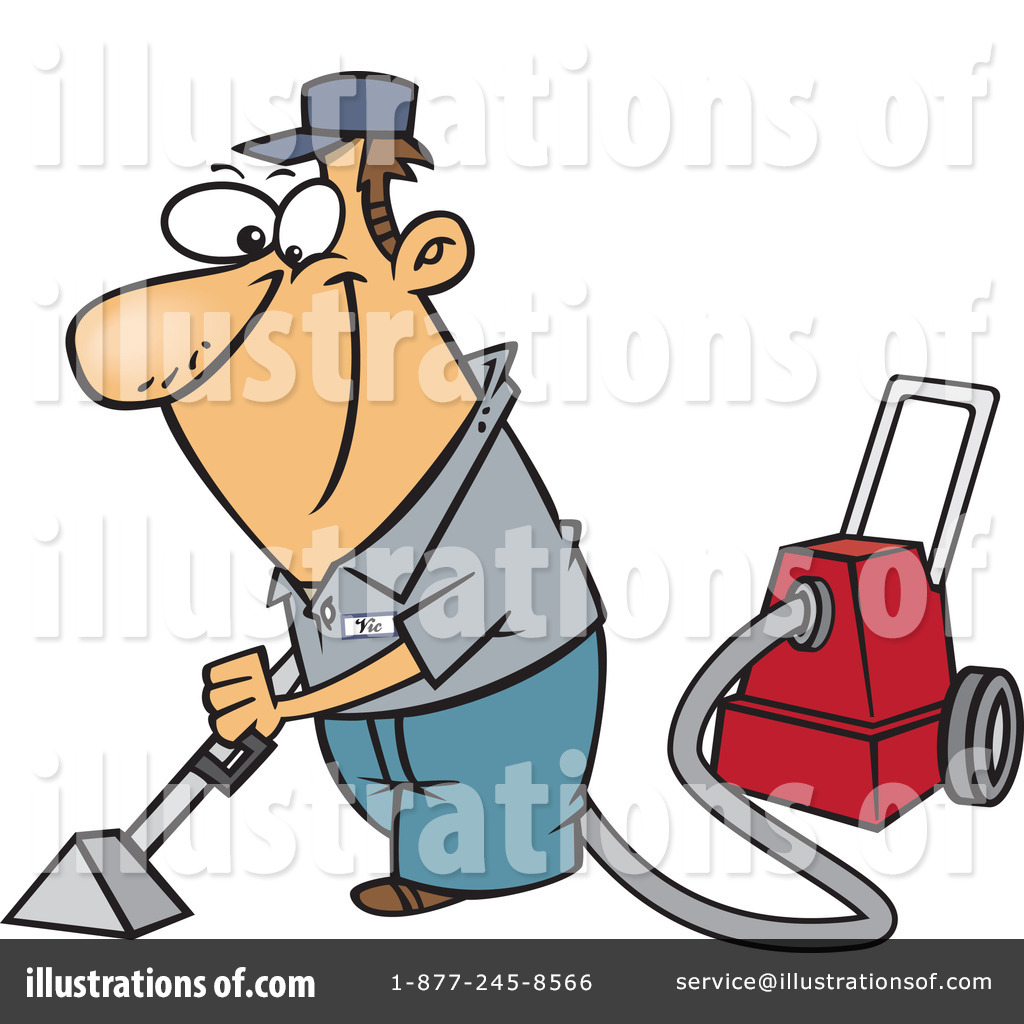 Royalty Free Rf Carpet Cleaner Clipart Illustration By Ron Leishman
