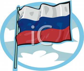 Royalty Free Russia Flag Clipart