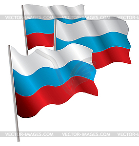 Russia 3d Flag   Royalty Free Vector Clipart