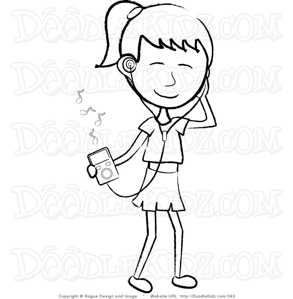 Student Listening Black And White Clipart - Clipart Suggest