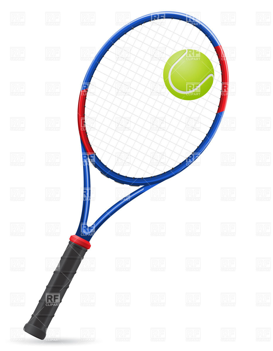 Tennis Racket And Ball Download Royalty Free Vector Clipart  Eps