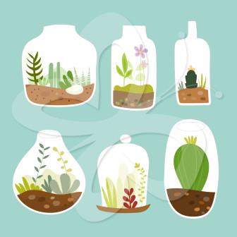 Terrarium Clipart Creative Clipart Collection 01