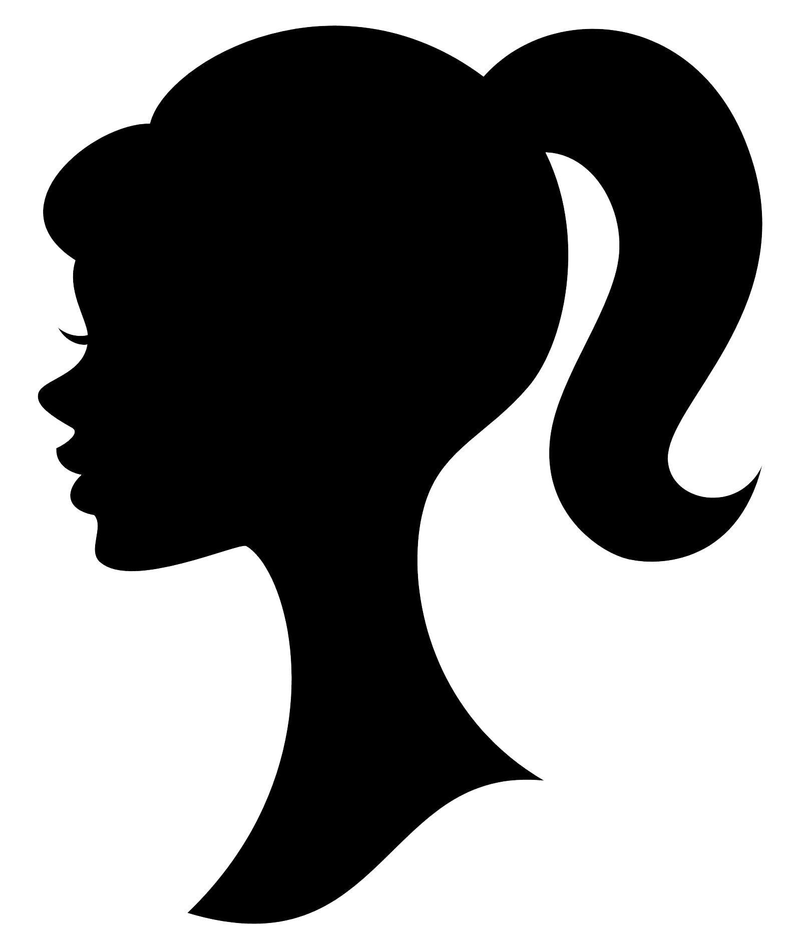 Barbie Silhouette   Clipart Best