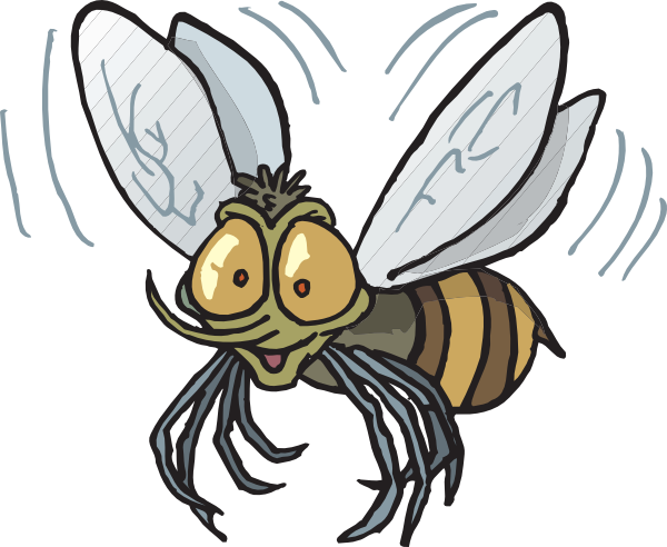 Bee Flying Clip Art At Clker Com   Vector Clip Art Online Royalty