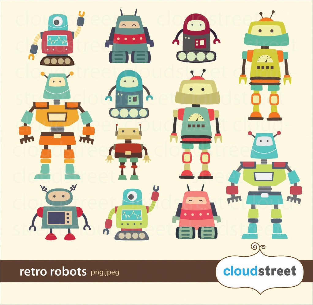 Cute Robot Clipart - Clipart Kid