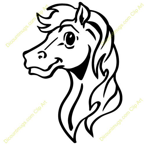 Horse Face Line Drawing : Horse face clipart suggest
