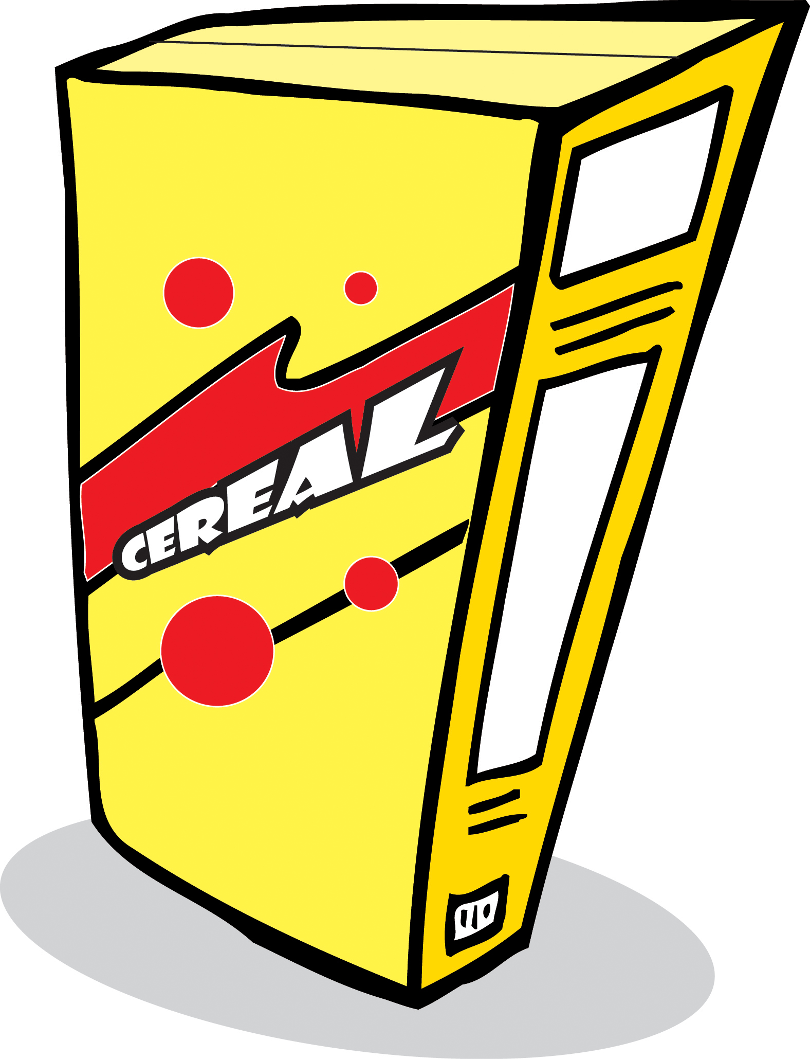 Gallery For Blank Cereal Box Clipart