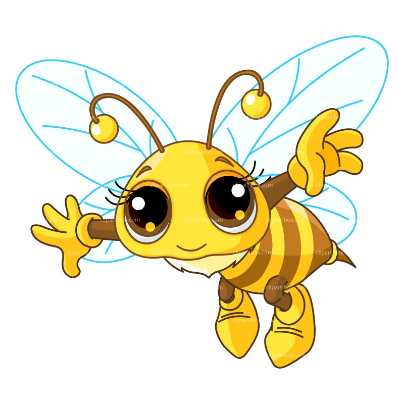 Clipart Young Bee Flying   Royalty Free Vector Design