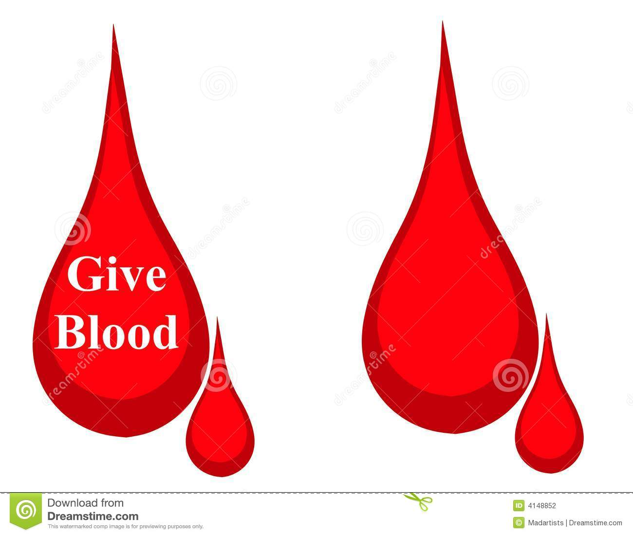 Drop Of Blood   One With The Words  Give Blood  And The Other Blank
