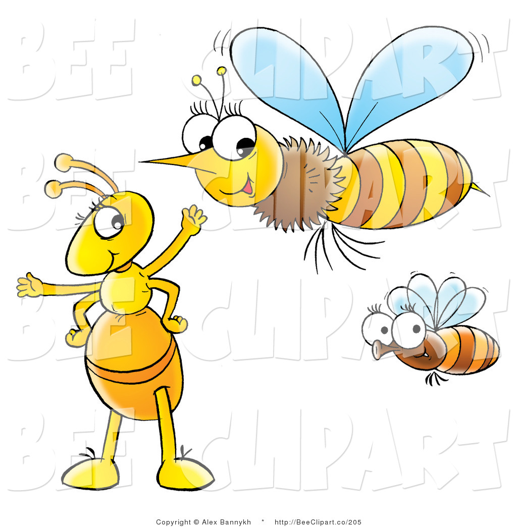 bumble bee flying clipart