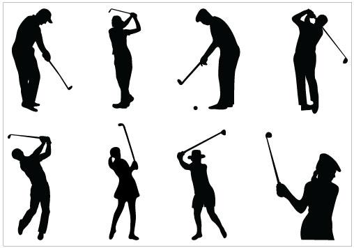 Golf Silhouette Clipart - Clipart Kid