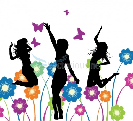 Happy Lady Clipart 060 Happy Girls Jpg