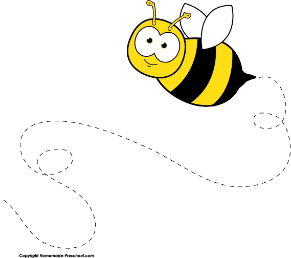 Home Free Clipart Bee Clipart Flying Bee