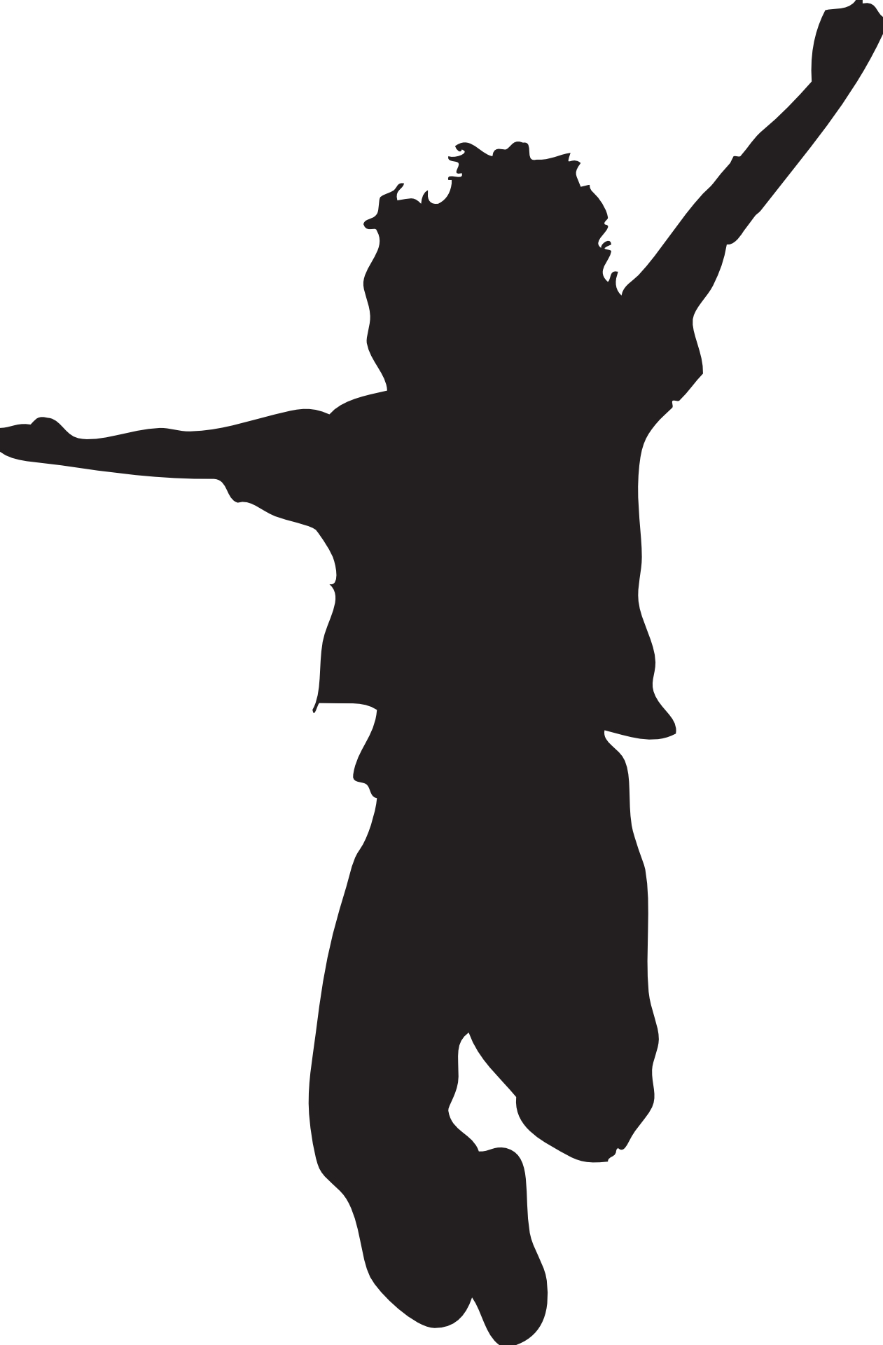 Jumping Silhouette   Clipart Best