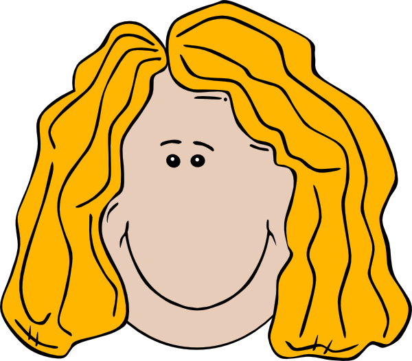 Lady Face Cartoon Clip Art At Clker Com   Vector Clip Art Online