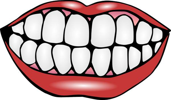 Mouth And Tongue Clipart Black And White   Clipart Panda   Free