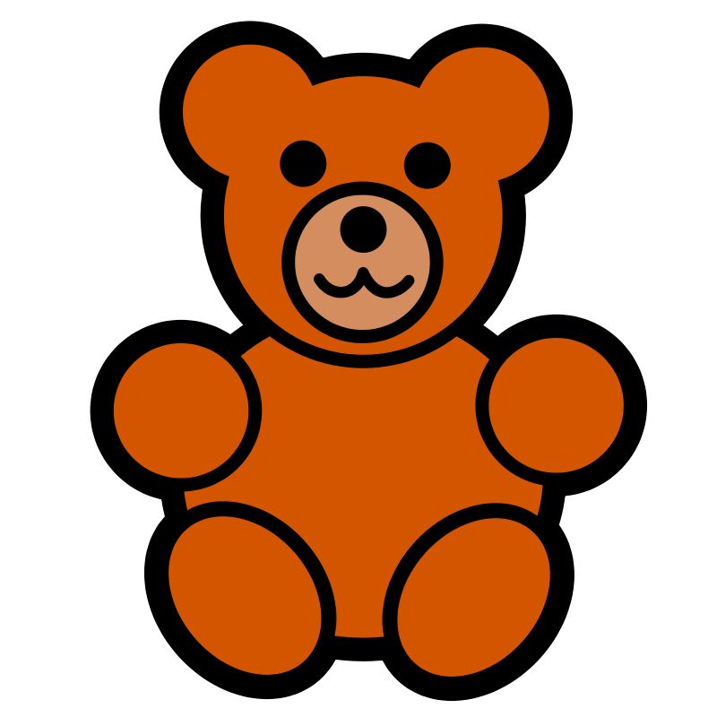 Pitr Teddy Bear Icon   Free Images At Clker Com   Vector Clip Art