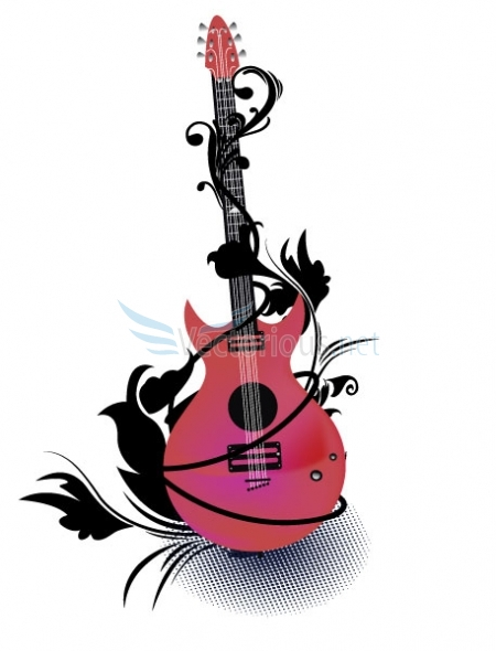 Rock Guitar Clipart - Clipart Kid