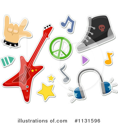Royalty Free  Rf  Rock Music Clipart Illustration By Bnp Design Studio