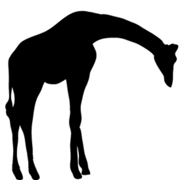 Silhouette Clipart Giraffe   Free Images At Clker Com   Vector Clip