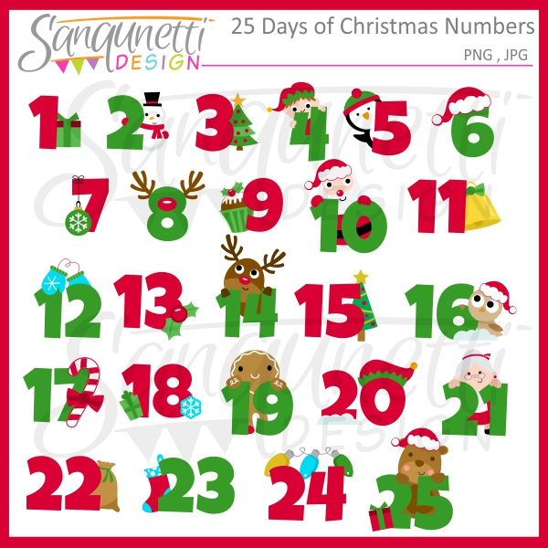 christmas numbers clipart free - photo #4