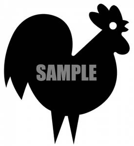 Black And White Rooster   Royalty Free Clipart Picture