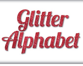 Clip Art Letters   Numbers Red Glitter Digital Alphabet And Numbers