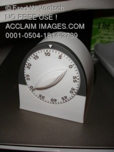 Clip Art Stock Photo Of A Kitchen Timer