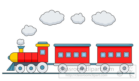 Download Train With Passenger Cars Clipart 4118