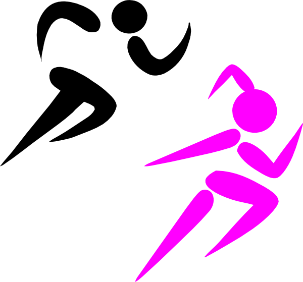 Athletes Running Clipart - Clipart Kid